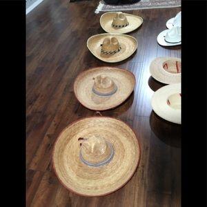 4 Authentic MexicanJalisco/Taumalipas Straw Hats